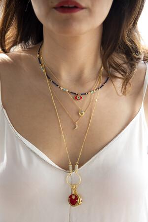 COMFORT ZONE - TINY SHINY - Crescent Pendant Necklace (1)