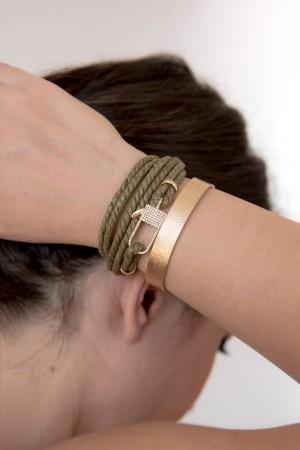 COMFORT ZONE - TISSUE - Textured Cuff Bracelet (1)