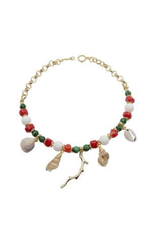 PLAYGROUND - TREASURE - Natural Stone and Seashell Necklace