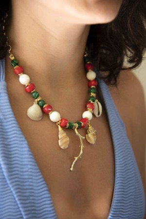PLAYGROUND - TREASURE - Natural Stone and Seashell Necklace (1)