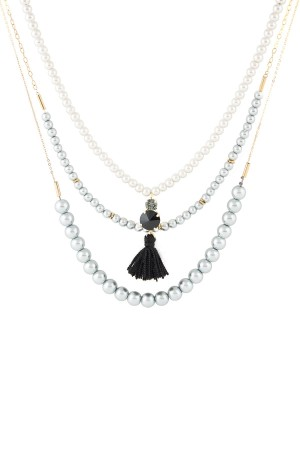 SHOW TIME - TRENDY PEARLY - Faux Pearl Necklace