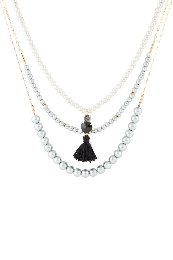 TRENDY PEARLY - Faux Pearl Necklace