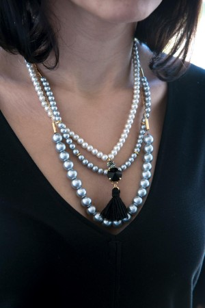 SHOW TIME - TRENDY PEARLY - Faux Pearl Necklace (1)