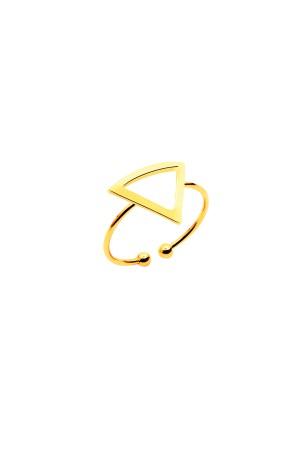 COMFORT ZONE - TRIANGLE GOLD - Altın Kaplama Yüzük