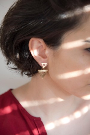 COMFORT ZONE - TRIANGLES - Geometric Earjackets (1)