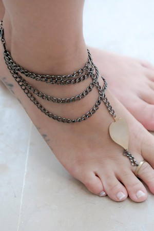 SHOW TIME - TRIBE - Two Tone Barefoot Sandal (1)