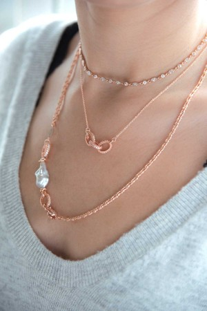 COMFORT ZONE - TRIO - CZ Chain Necklace (1)