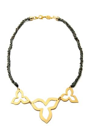 BAZAAR - TRIO FLOWERS - Braided Necklace