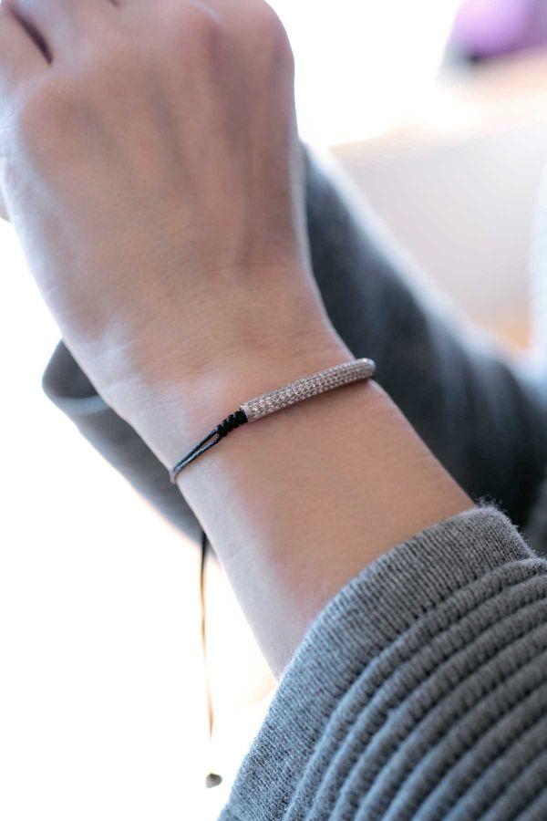 TUBE - CZ Adjustable Bracelet