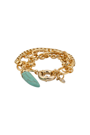 SHOW TIME - TURQUOISE- Layered Chain Bracelet