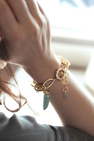 TURQUOISE- Layered Chain Bracelet - Thumbnail