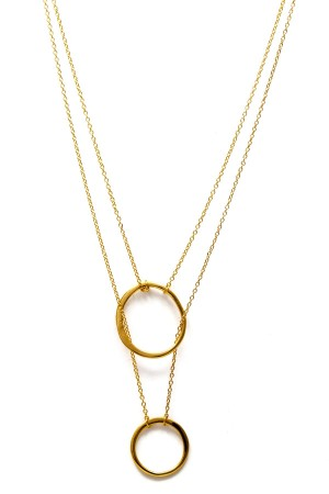 COMFORT ZONE - TWIN CIRCLES - Layering Necklace
