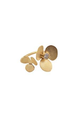 COMFORT ZONE - TWIN CLOVER - Çiçek Figürlü Yüzük