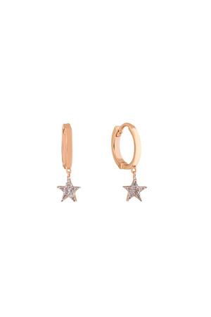 PETITE LUXE - TWINKLE STAR - Pırlanta Yıldız Küpe