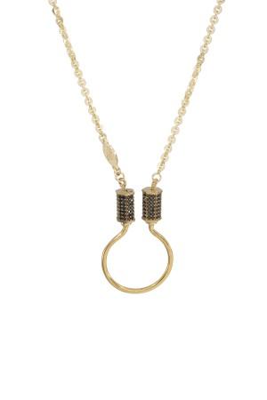 PETIT CHARM - TWINS CABLE - Charm Necklace