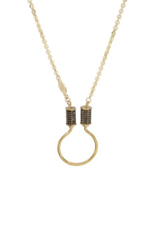 PETIT CHARM - TWINS CABLE - Zincir Charm Kolyesi