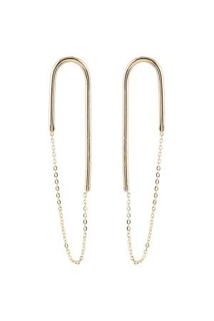 PLAYGROUND - U TURN - Chain Earrings