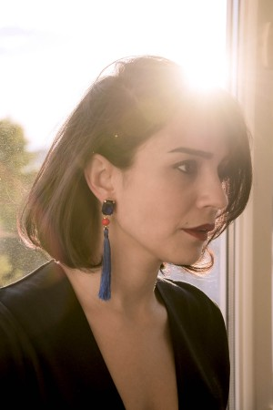 SHOW TIME - ULTRAMARINE - Royal Blue Statement Earrings (1)