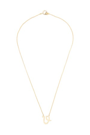 PETITE JEWELRY - V - Handwriting Initial Necklace