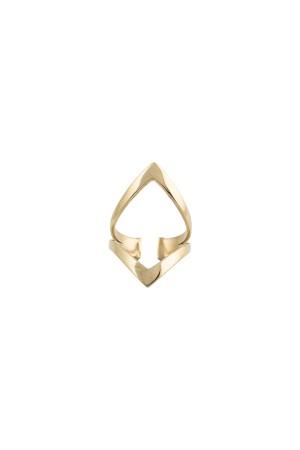 COMFORT ZONE - V RING - Altın Kaplama V Yüzük