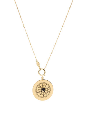 COMFORT ZONE - WHEEL - Compass Pendant Necklace