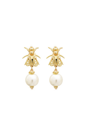 PLAYGROUND - WHITE BEE - Pearl Earrings