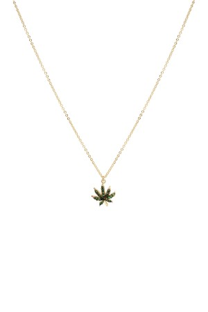 PLAYGROUND - WHITE MARI - Minimalistic Leaf Necklace