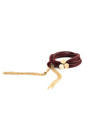 SHOW TIME - WILLOW CLOVER DEEP - RED - Wrap Bracelet
