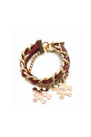 BAZAAR - YOU AND ME - Puzzle Piece Charm Bracelet