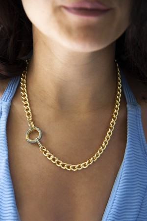 SHOW TIME - ZOE - Chuncky Curb Chain Necklace (1)